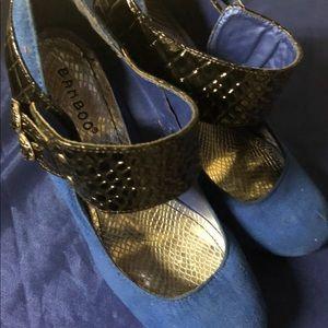Women blue heels